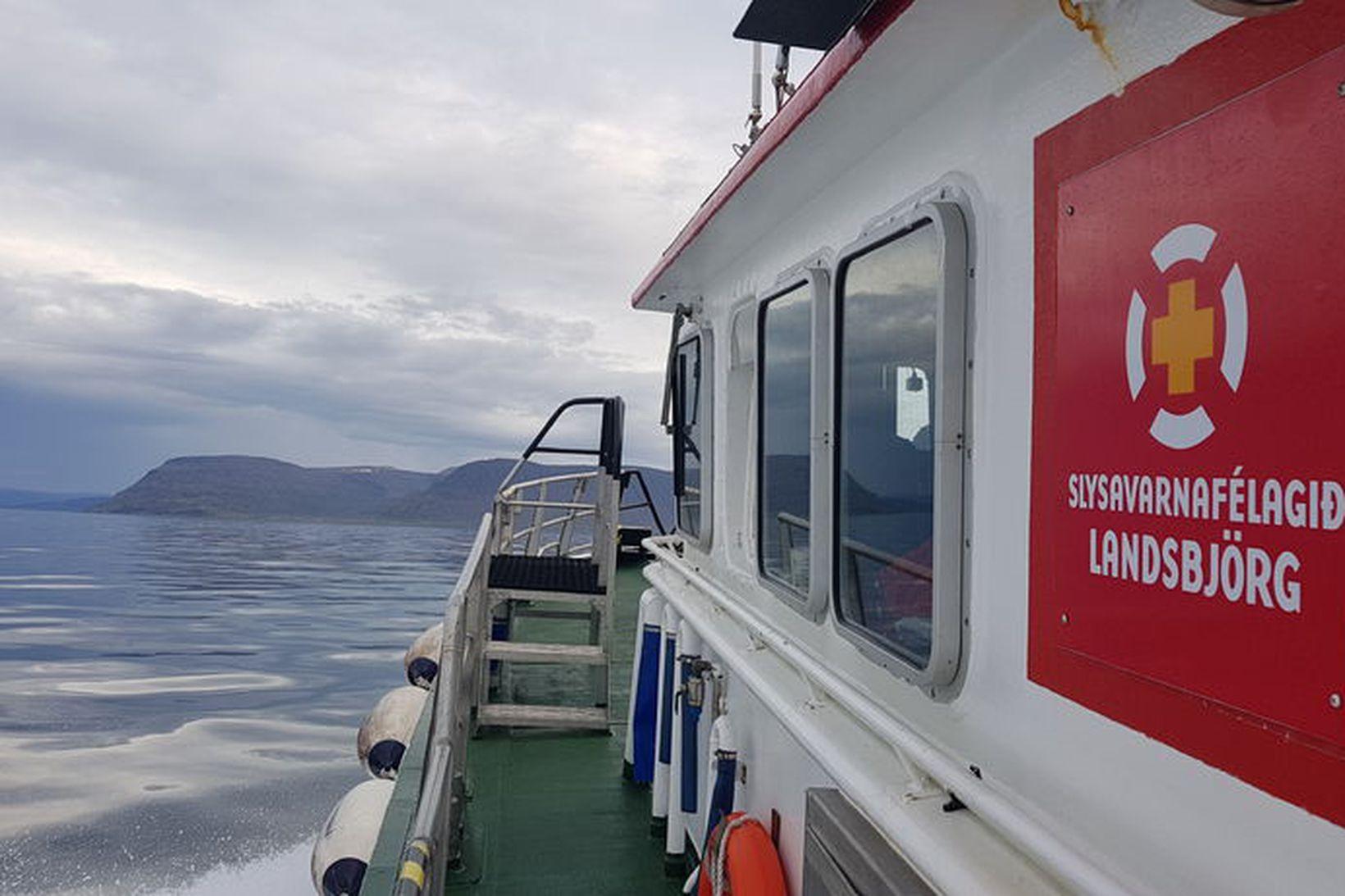 Gísli Jóns á leið til Atlavíkur síðdegis í dag.