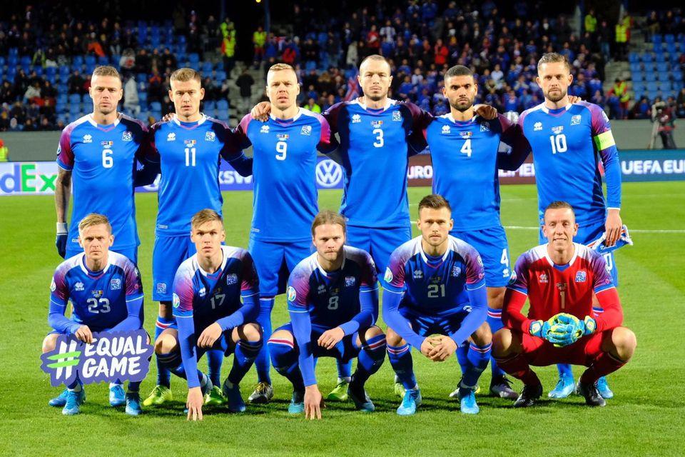 Byrjunarlið Íslands gegn Andorra.