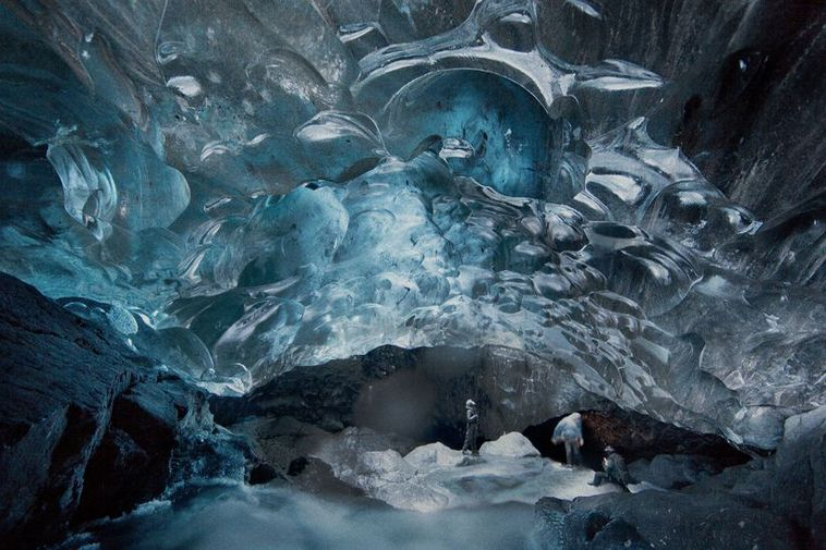 The ice cave has been named Kristallinn - or the crystal.