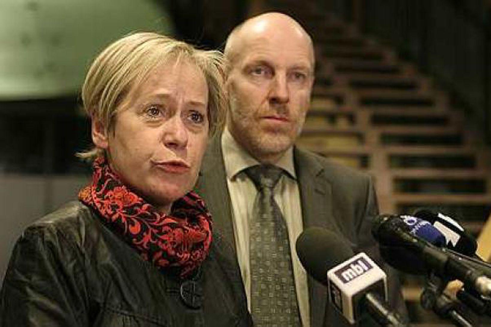 Ingibjörg Sólrún Gísladóttir og Steingrímur J. Sigfússon