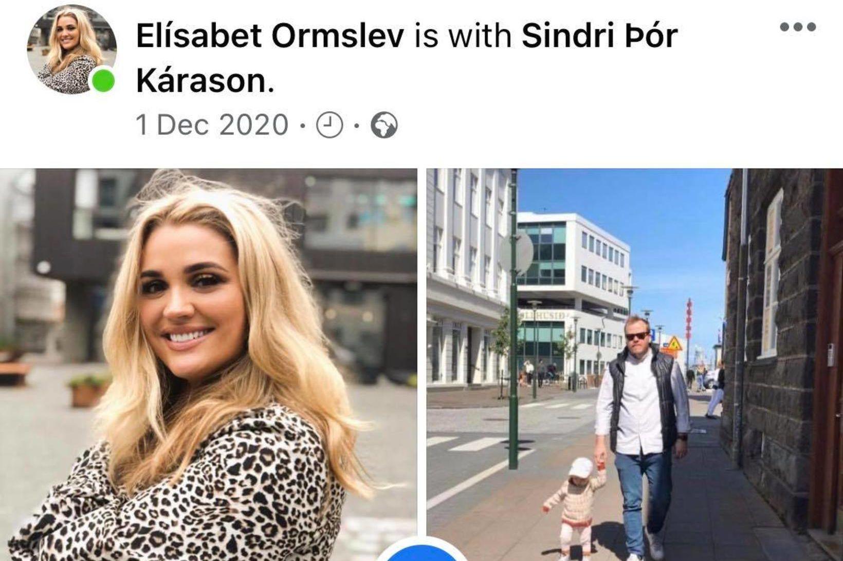 Elísabet Ormslev og Sindri Þór Kárason skráðu sig í samband …