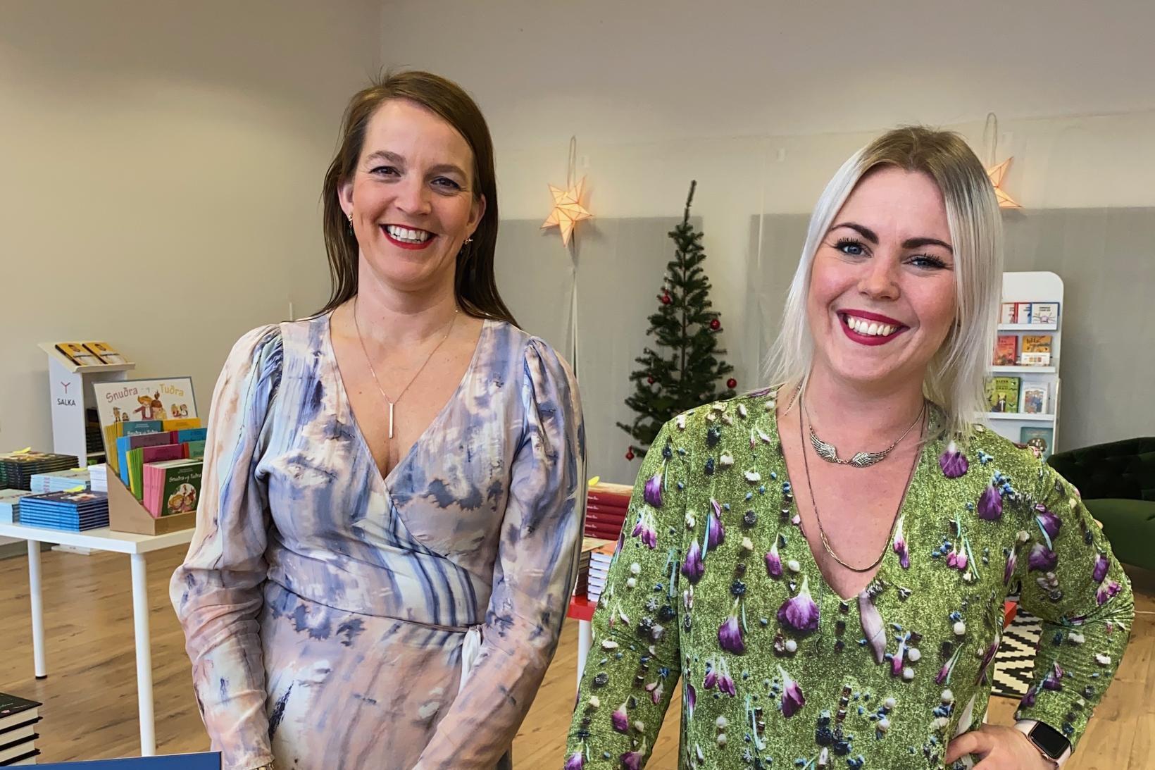 Dögg Hjaltalín og Anna Lea Friðriksdóttir opna bókabúð í miðjum …