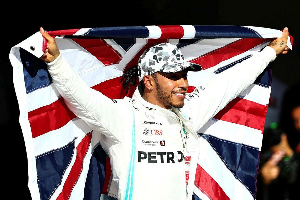 Lewis Hamilton fagnar sjötta titlinum í Austin.