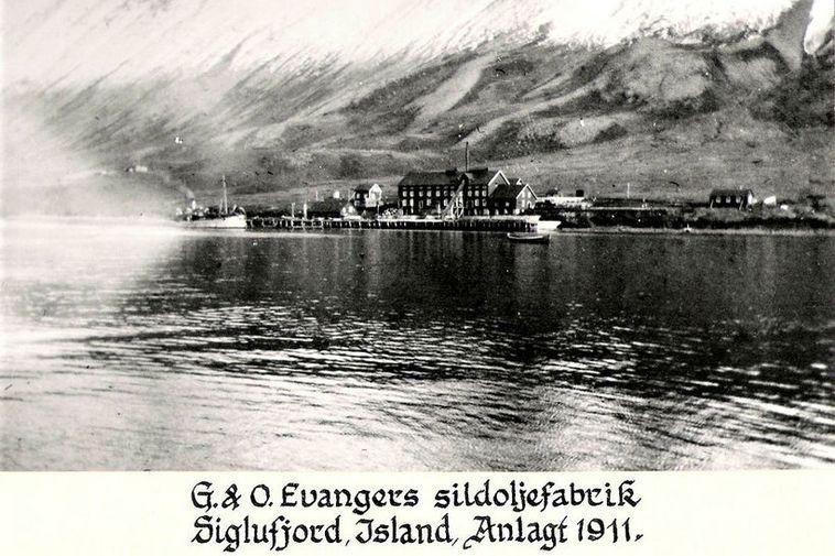 The Evanger herring processing plant in Siglufjörður, Northeast Iceland.