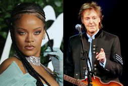 Rihanna og Paul McCartney.