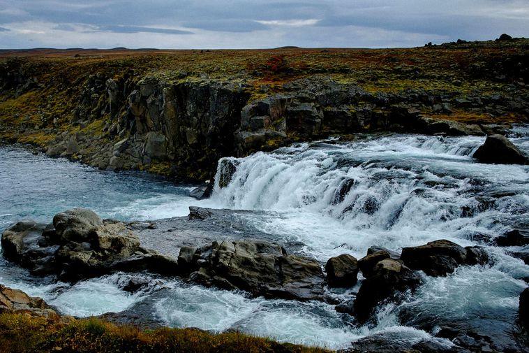 Selárfoss waterfall, Northeast Iceland.