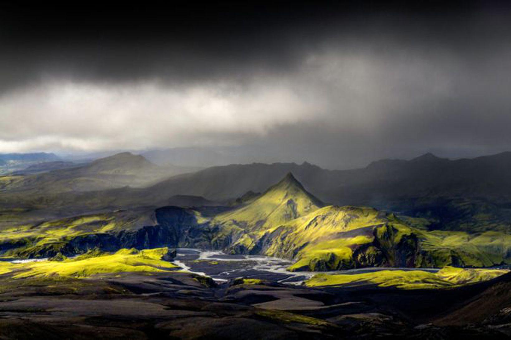 Vatnsá í Skaftá hefur haldið áfram að aukast rólega.