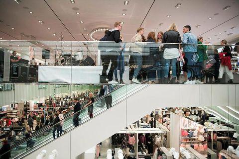 The H&M store in Smáralind mall, Kópavogur.