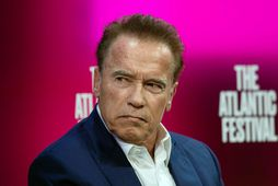 Arnold Schwarzenegger veit hvernig á að taka á því í ræktinni.