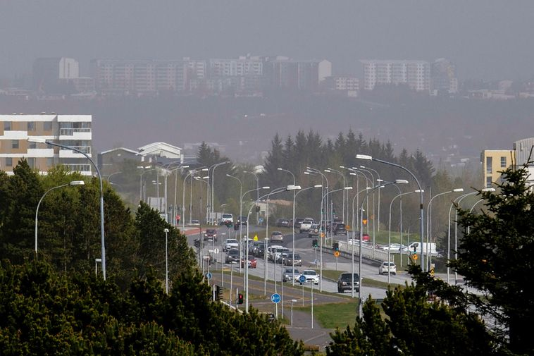 This is what the haze looked like yesterday.