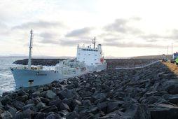 Fjordvik strandaði í Helguvík um síðustu helgi.