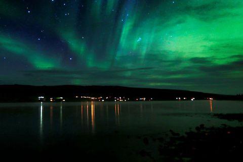 Northern Lights at  Skorradalsvatn in South Iceland this weekend.