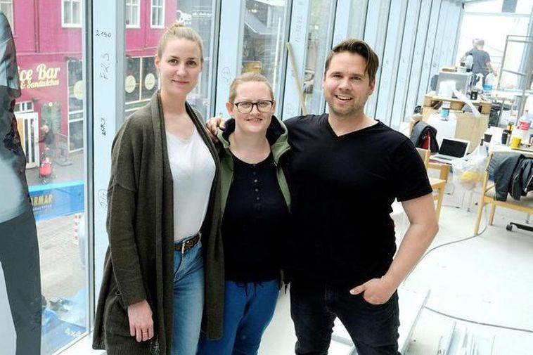 Natascha, Arna and marketing manager Hörður Ellert at Nostra.