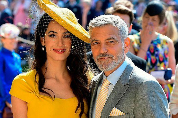 Amal Clooney þykir afar gáfuð, ætli Goerge Clooney sé svona ...