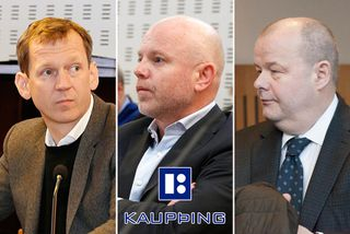 Hreiðar Már Sigurðsson, fv. forstjóri Kaupþings, Ingólfur Helgason, fv. forstjóri Kaupþings á Íslandi, og Sigurður ...