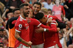 Bruno Fernandes, Cristiano Ronaldo og félagar í Manchester United eiga erfiðan útileik í dag gegn …