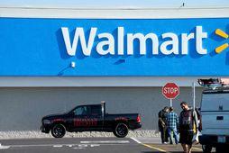 Frá Walmart-versluninni í El Paso í Texas-ríki, þar sem fjöldamorð var framið í ágústmánuði.