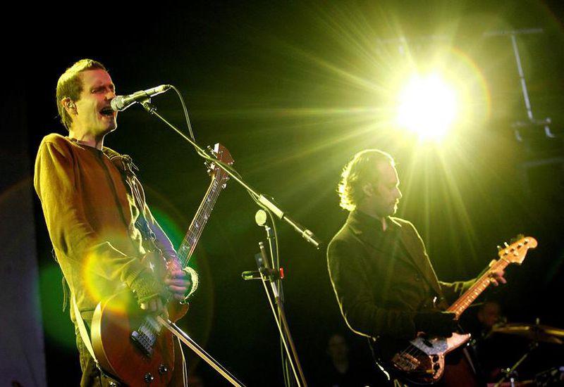 The band Sigur Rós on stage.