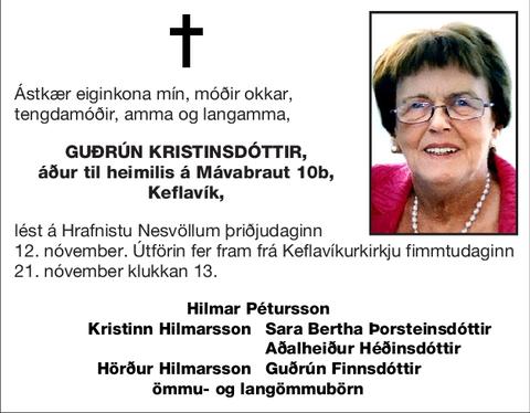 Guðrún Kristinsdóttir,