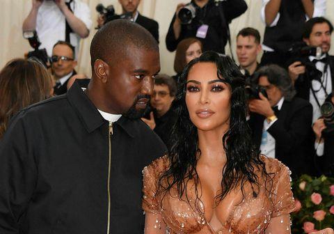 Kanye West og Kim Kardashian.