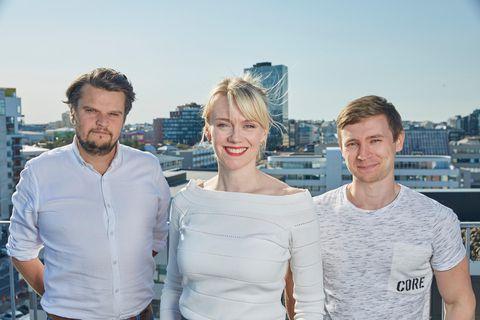 Hilmar Þór Birgisson, Margrét Júlíana Sigurðardóttir and Jón Gunnar Þórðarson visited the NetEase headquarters in China.