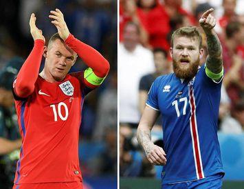 Wayne Rooney og Aron Einar Gunnarsson eiga örugglega eftir að takast á í leiknum í ...