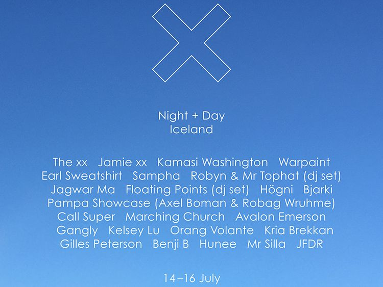 The xx present: Night and Day Iceland