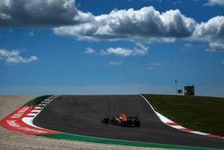 Max Verstappen á ferð í Portimao brautinni í Algarve í Portúgal.