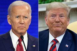 Joe Biden fyrrverandi varaforseti Bandaríkjanna og Donald Trump forseti Bandaríkjanna.