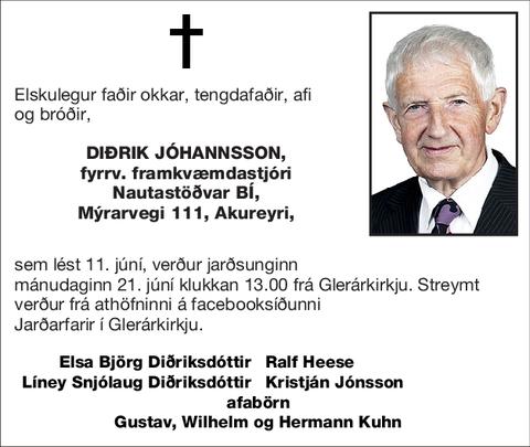 Diðrik Jóhannsson,