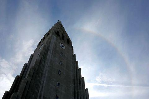 Hallgrímskirkja church tower.