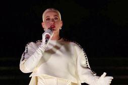 Katy Perry söng á innsetningarathöfn forseta landsins.