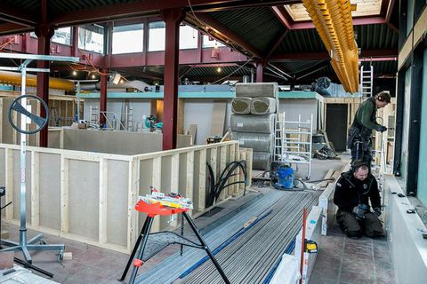 Construction under way at Hlemmur.