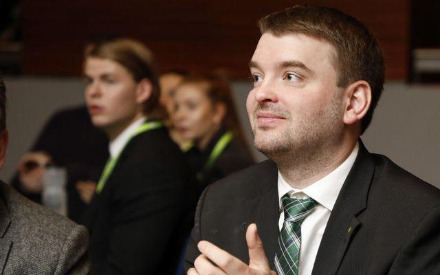 Ásmundur Einar Daðason, félags- og jafnréttismálaráðherra á flokksþingi Framsóknarflokksins.