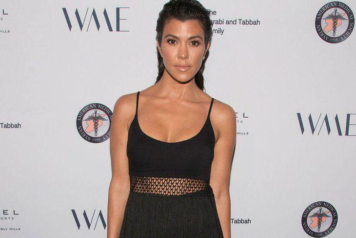 Kourtney Kardashian er dugleg að mæta í ræktina.