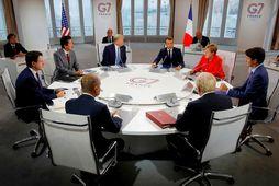 Fundur G7-ríkjanna fer nú fram í Frakklandi og mætti utanríkisráðherra Írans að beiðni forseta Frakklands.