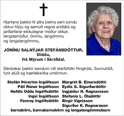 Jónínu Salnýjar Stefánsdóttur,