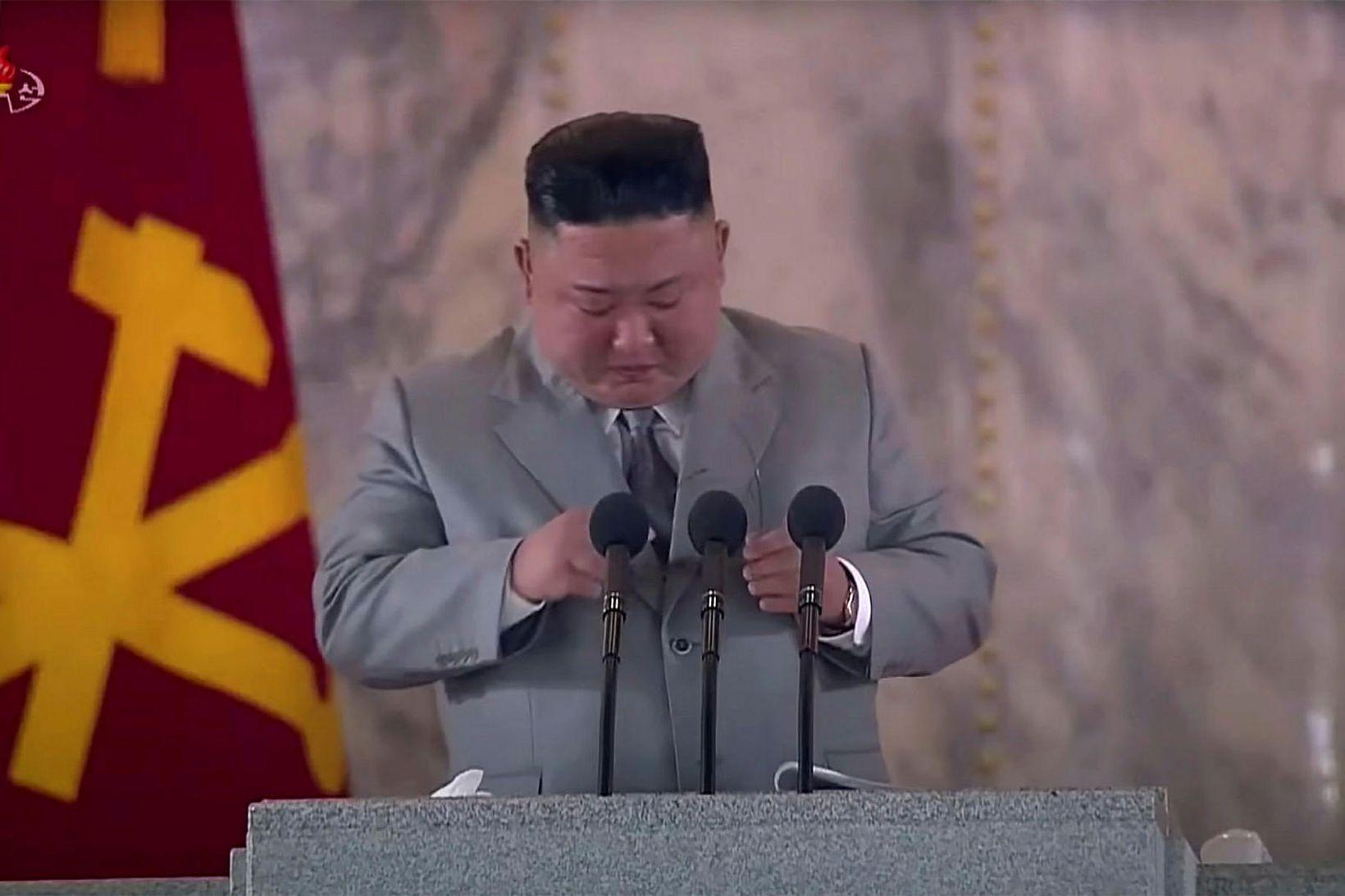 Kim Jong-un hefur áður lýst yfir áhyggjum vegna veirufaraldursins.