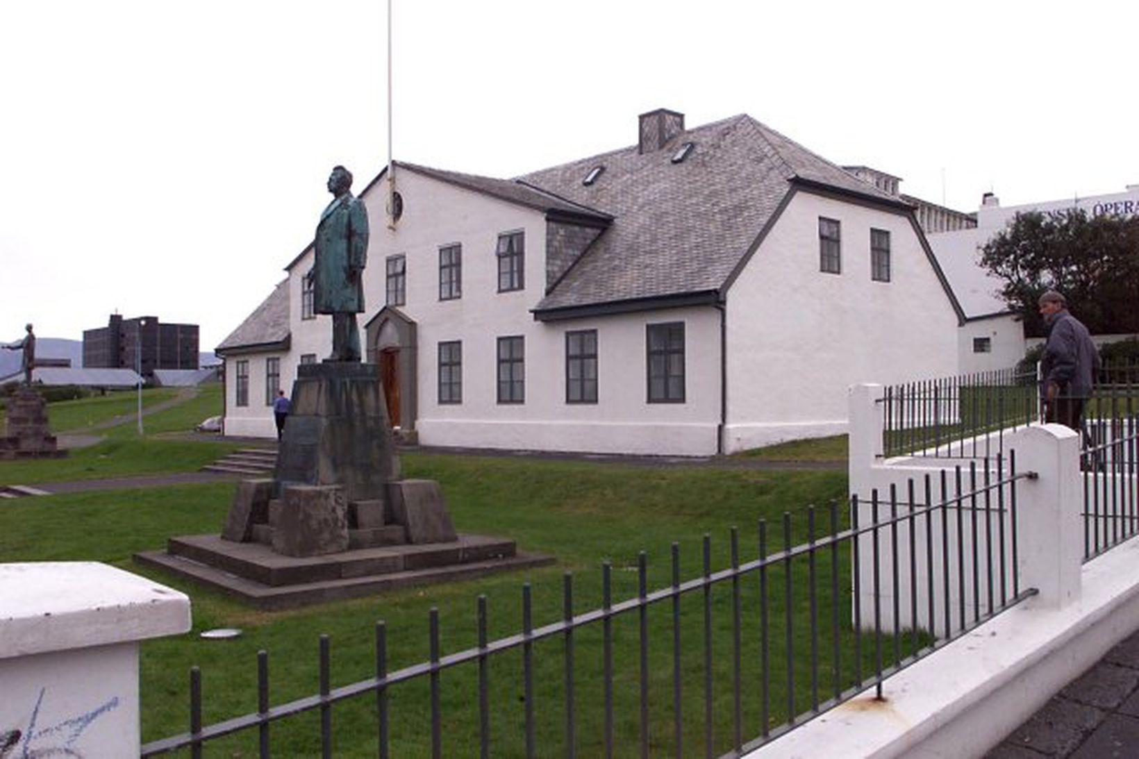 Stjórnarráðshúsið við Lækjargötu.
