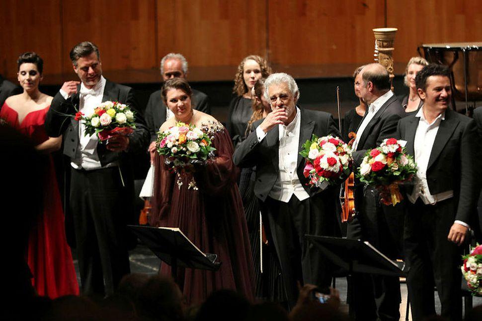 Placido Domingo í Salzburg í dag.