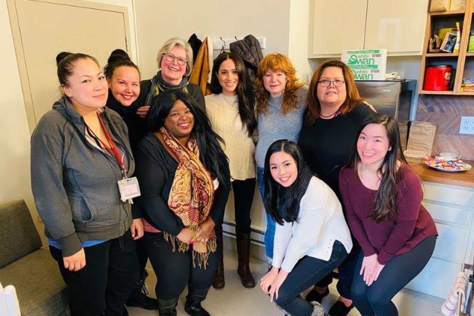 Downtown Eastside Women's Centre birti mynd af heimsókn Meghan á …