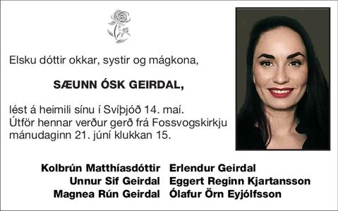 Sæunn Ósk Geirdal,