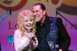 Dolly og Randy Parton.