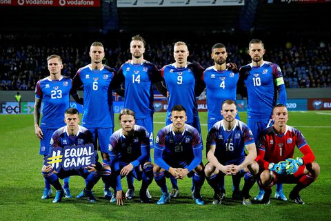 The Icelandic men's national soccer team.