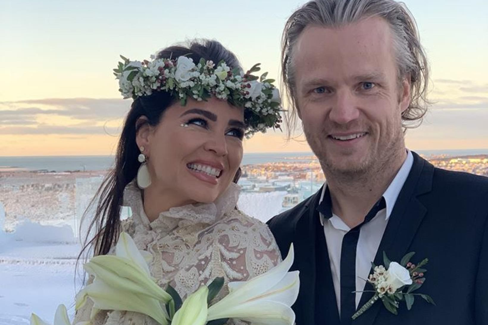 Sólveig Þórarinsdóttir og Hólmar Logi endurnýjuðu heitin á tíu ára …