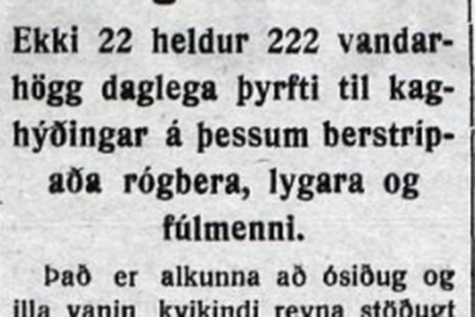 Textabrot sem Guðni vísaði til í erindi sínu.