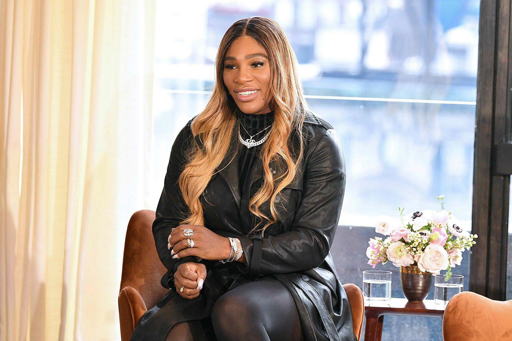 Serena Williams leggur áherslu á listina í betri stofunni sinni.