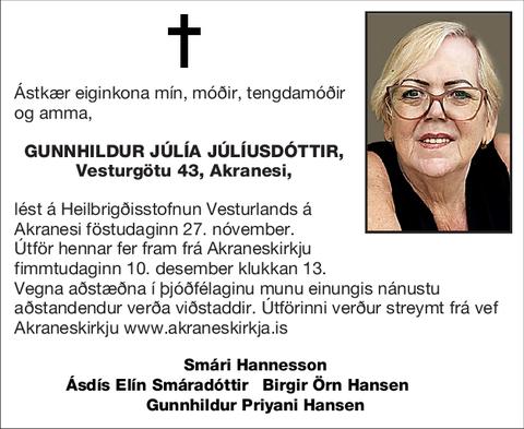 Gunnhildur Júlía Júlíusdóttir,