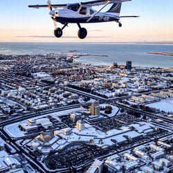 Flug yfir Reykjavík