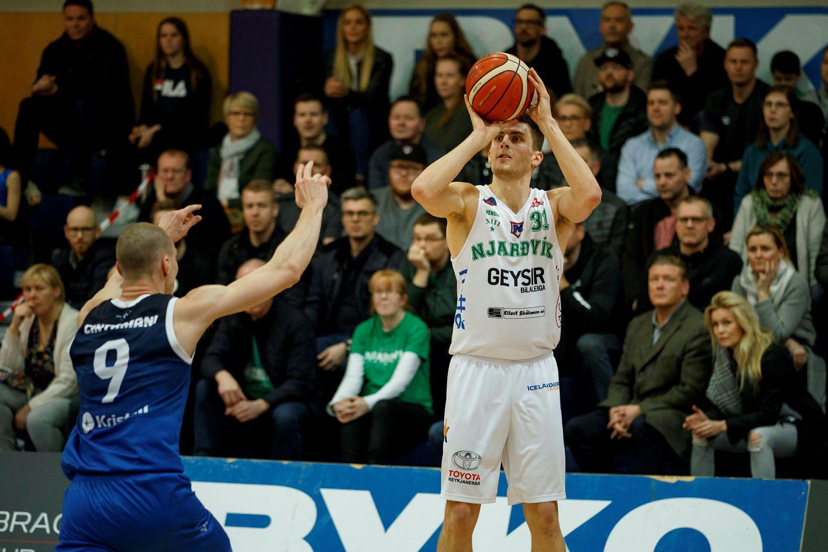 Mario Matasovic skoraði 16 stig fyrir Njarðvíkinga í kvöld.